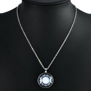 Jewelry - Triple Goddess Moon Necklace - Cabochon Pendant